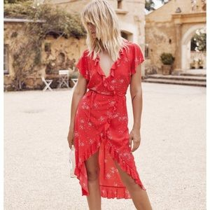 Auguste the Label - Red Celestial Midi Dress
